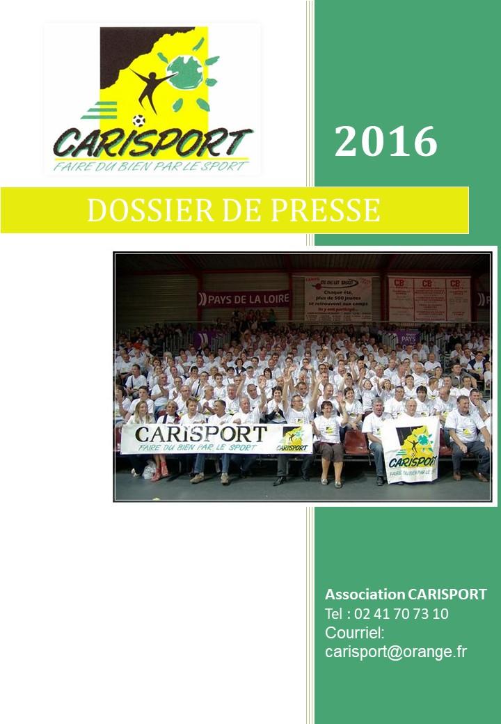 1ERE PAGE Dossier de Presse 2016