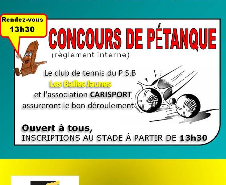 AFFICHE TOURNOI PETANQUE - LE PUY SAINT BONNET - 14-09-2019